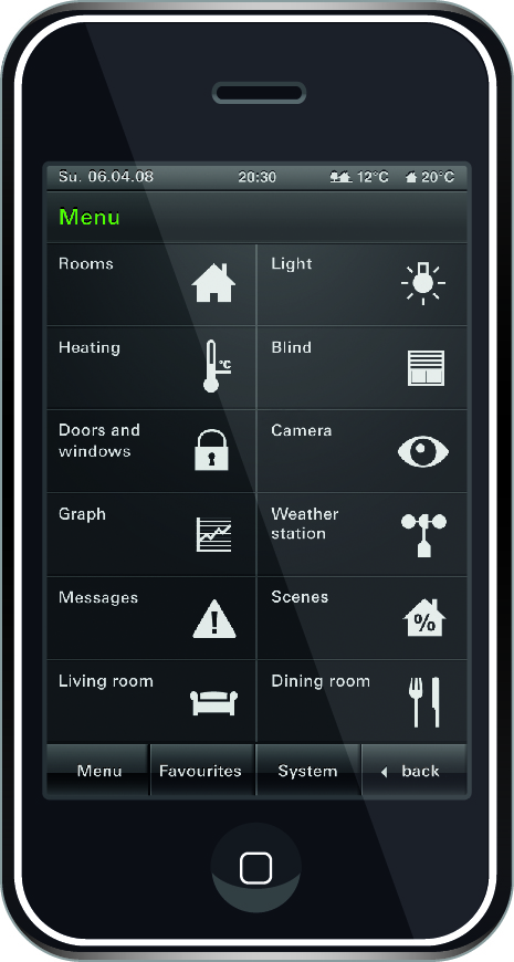 smartphone home automation control interface